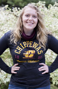 Chippewas Flying C 1892 Script Central Michigan Under Armour Ladies Cowl Neck Long Sleeve