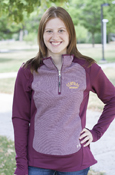 Arched Central Michigan Ladies Microfleece Under Armour 1/4 Zip