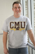 Charcoal C M U Central Michigan Flying C 1892 T-Shirt