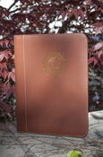Seal Portfolio With Writing Pad And Business Card Pocket - Brown