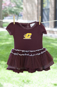 Flying C Polka Dot Maroon Tutu Dress