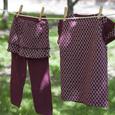 C M U Lattice Maroon Shirt & Skirt/Leggings Set