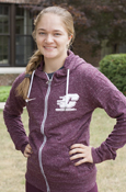 Flying C Heather Maroon Nike Ladies Full Zip