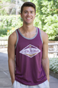 Diamond Flying C 92 Central Michigan Maroon Mens Tank