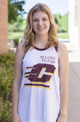 Distressed Central Michigan Large Flying C Tank With Cutout Sleeves