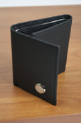 Seal Leather Tri-Fold Wallet