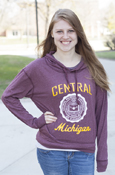 Central Seal Michigan Ladies Slouchy Hood