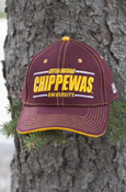 Central Michigan Line 3D Chippewas Maroon Hat