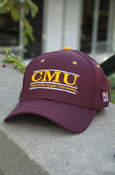 Line C M U Central Michigan University Stretch Fit Maroon Hat