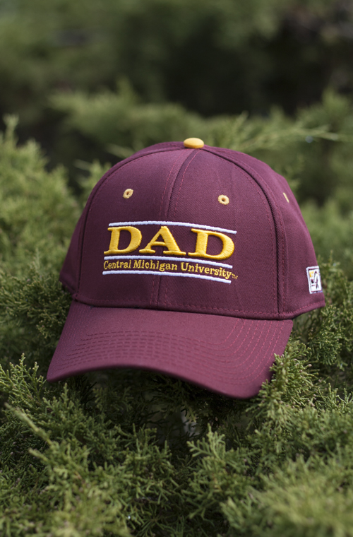 western michigan university baseball cap of fitted hat dad line central maroon