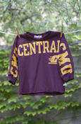 Central Flying C Maroon Long Sleeve With C M U On Sleeves