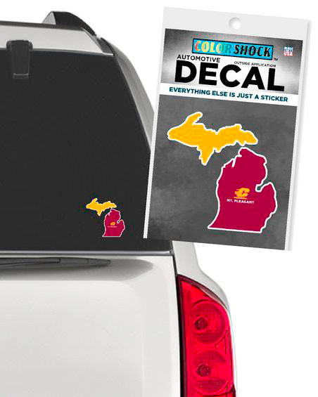 Michigan Maroon & Gold Flying C Mt. Pleasant Decal (Outside Application)