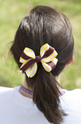 Knotted Yellow And White Stripe Bow Barrett