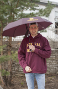 "Flying C Central Michigan 42"" Umbrella With Swivel Flashlight Handle"