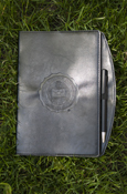 Embossed Seal 6X9 Journal With Pen - Black