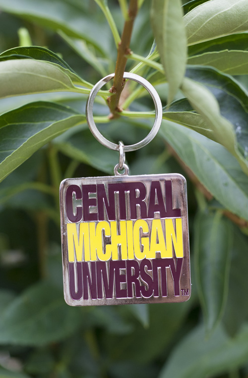 Stacked Central Michigan University Square Key Chain (SKU 5023715932)