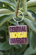 Stacked Central Michigan University Square Key Chain