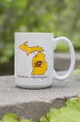 Central Michigan Flying C Gold Michigan Mug