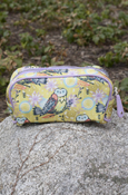 "Owl Small Cosmetic Case 8.25""X4.25""X2.5"""