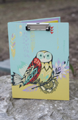 Animals - Owl Padfolio With Clipboard