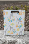 Animals - Giraffe Padfolio With Clipboard