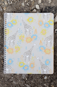 Animals - Giraffe College Ruled Spiral Notebook