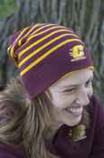 Flying C Striped Reversable Chippewas Nike Beanie