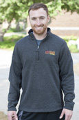 Flying C C M U Chippewas Fleece-Lined 1/4 Zip