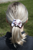 Maroon And White Flying C Scrunchie