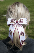Flying C And Maroon Bow With Clip