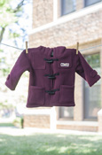 C M U Maroon Fleece Coat With Toggle Closure