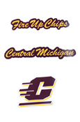 Small Decal -  Fire Up Chips, Central Michigan, Flying C