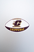 Small Decal - Flying C Chippewas Football