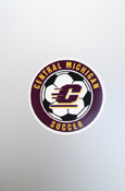 Small Decal - Central Michigan Soccer