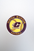 Small Decal - Central Michigan Softball