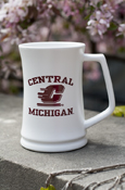 30Oz White Central Flying C Michigan Tankard With Fight Song On Reverse