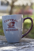 Central Flying C Michigan Speckled Mug With Maroon Handle