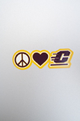 Small Decal - Peace Love Flying C