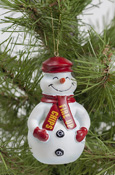 Ornament - Snowman With Fire Up Chips Scarf