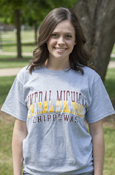 Central Michigan Word Color Block Chippewas T-Shirt