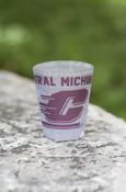 Central Michigan Flying C Multi-Words Frosted Shot Glass