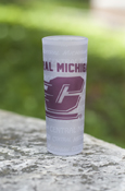 Central Michigan Flying C Multi-Words Frosted Shooter Glass