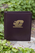 "Gold Flying C On Leather 1"" Binder - Maroon"