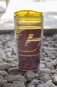 Flying C Gold Fade To Maroon 16 Oz Tumbler