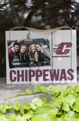 "Flying C Chippewas Weathered-Look Clip-It Photo Frame (10X7.5"")"
