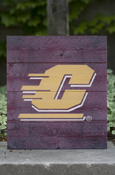 Flying C Maroon Wood Pallet Sign 12X13""