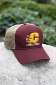 Flying C Maroon Mesh Hat With Michigan On Back