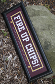 Fire Up Chips Framed 8X24 Horizontal Sign