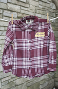 Central Michigan Plaid Button-Up Shirt With Chippewas Flying C On Back
