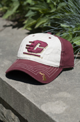 Cream And Maroon Adjustable Hat With Flying C And Michigan